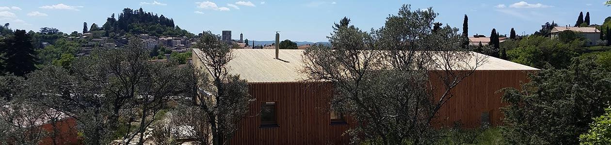 Maison bois contemporaine (Forcalquier)