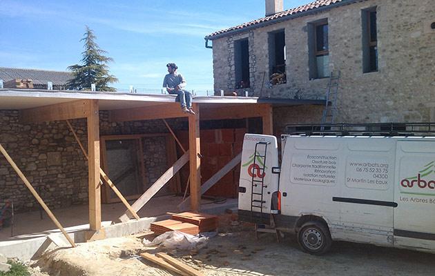 Construction d'une extension - Arbâts, Les Arbres Bâtisseurs
