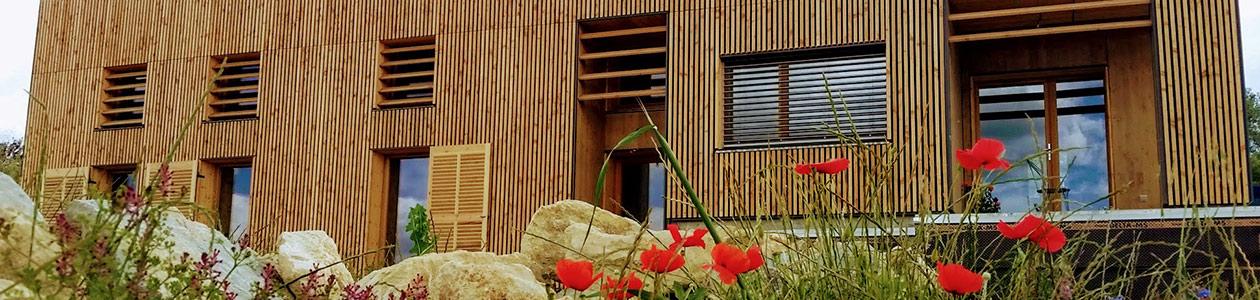 Construction d'une maison bois contemporaine & bardages bois, Forcalquier (04)