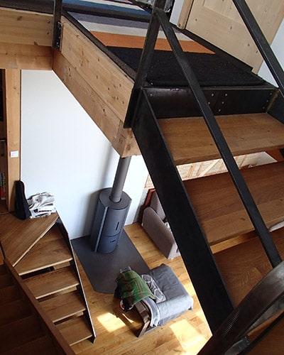 Escalier composite bois métal